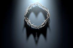 Corona delle spine con ombra reale Fotografie Stock Libere da Diritti