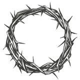 Corona delle spine, simbolo religioso di pasqua dello schizzo disegnato a mano dell'illustrazione di vettore di Cristianità illustrazione di stock