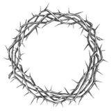 Corona delle spine, simbolo religioso di pasqua dello schizzo disegnato a mano dell'illustrazione di vettore di Cristianità illustrazione vettoriale