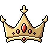 Corona di arte del pixel di vettore royalty illustrazione gratis