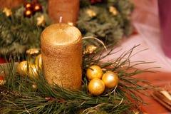 Corona di avvenimento con quattro candele Fotografie Stock