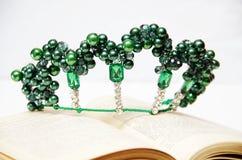 Corona di cavo e delle perle Fotografie Stock Libere da Diritti