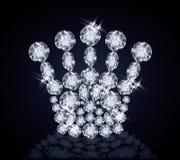 Corona di Diamond Queen Fotografia Stock