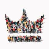 Corona di forma della gente del gruppo Fotografia Stock Libera da Diritti