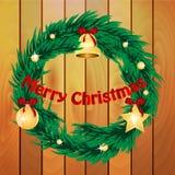 Corona di Natale Fotografia Stock