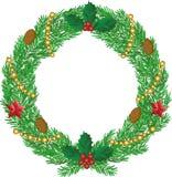Corona di Natale con i coni Immagine Stock