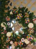 Corona di Natale con la caramella fotografie stock libere da diritti