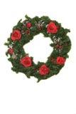 Corona di natale con le rose Fotografia Stock