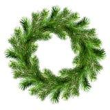 Corona di Natale dai ramoscelli del pino immagine stock