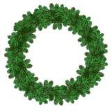Corona di Natale dei rami del pino Fotografie Stock