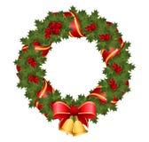 Corona di Natale di agrifoglio Fotografia Stock