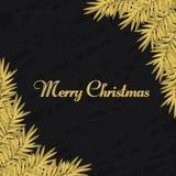 Corona di Natale di colore dorato Immagine Stock