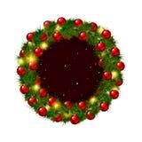 Corona di Natale, isolata su bianco Fotografia Stock