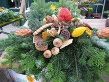 Corona di Natale per la decorazione domestica Fotografie Stock
