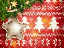 Corona di Natale su rosso ENV 10 Fotografia Stock Libera da Diritti