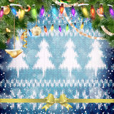 Corona di Natale su rosso ENV 10 Immagine Stock