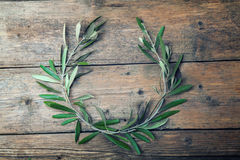 Corona di olivo immagini stock libere da diritti
