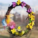 Corona di Pasqua Immagine Stock