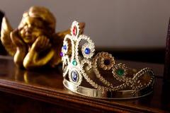 Corona di principessa con le gemme Fotografie Stock