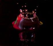 Corona di una goccia di pioggia Fotografie Stock Libere da Diritti