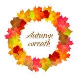 Corona di vettore con le foglie di autunno royalty illustrazione gratis