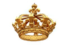 Corona dorata Fotografie Stock