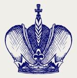 Corona. Estilo del Doodle Fotografía de archivo