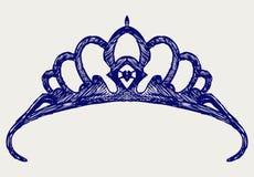 Corona. Estilo del Doodle Fotos de archivo libres de regalías