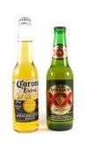 Corona Extra och Dos Equis Arkivfoton