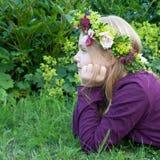 Corona floreale Fotografia Stock Libera da Diritti