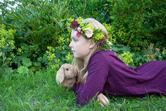 Corona floreale Fotografia Stock