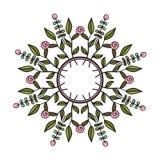 Corona floreale tribale Fotografia Stock