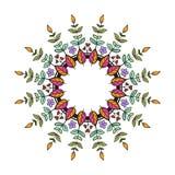 Corona floreale tribale Immagine Stock Libera da Diritti