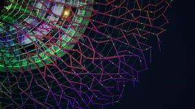 Corona gigante de Supertree que brilla intensamente en jardines por la bahía en Singapur almacen de video