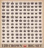 Corona. Grande insieme. Icone della raccolta. Fotografia Stock Libera da Diritti