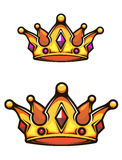 Corona heráldica del vintage Foto de archivo libre de regalías