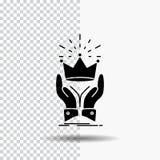 Corona, honor, rey, mercado, icono real del Glyph en fondo transparente Icono negro libre illustration