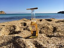 Corona And joint. Love sea beer Royalty Free Stock Image