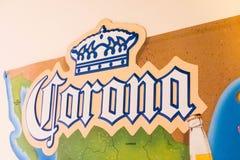 Corona logo advertise commercial parrot royalty free stock photo