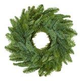 Corona naturale di Natale Fotografia Stock