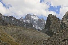 Corona peak. In Kyrgyzstan, ala-archa gorge Stock Image