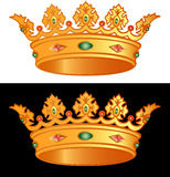 Corona real Stock de ilustración