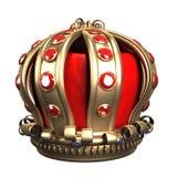 Corona real del oro Fotos de archivo libres de regalías