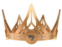 Corona real del oro ilustración del vector