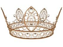 Corona real del oro Foto de archivo