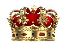 Corona real del oro stock de ilustración