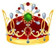 Corona real del oro Fotografía de archivo libre de regalías