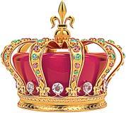 Corona real luminosa Fotografía de archivo libre de regalías