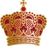 Corona rico adornada del monarca Fotografía de archivo