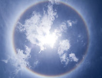 Corona, ring of sun. With blue sky Royalty Free Stock Photos